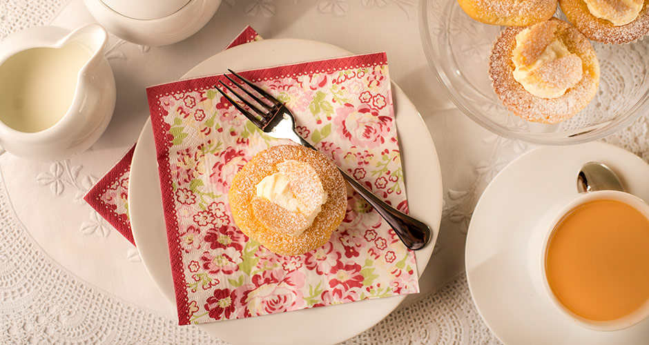 Enjoy homemade lemon fairy cakes for afternoon tea